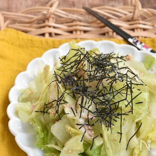 やみつき♪レタスとツナの海苔サラダ