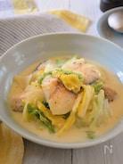鱈と白菜の豆乳クリーム煮