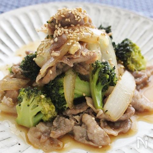ブロッコリーと豚肉の炒め物