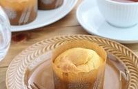 ホットケーキミックスで簡単おうちカフェ♪桃マフィン
