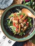 『ちょっぴりおしゃれに♡』揚げごぼうのエスニックサラダ