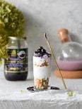 簡単♥朝食♥ブルーベリー、甘酒ヨーグルト、グラノーラパフェ