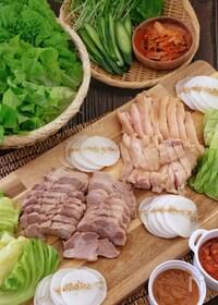 『野菜たっぷり*しっとり柔らか茹で鶏のポッサム*』