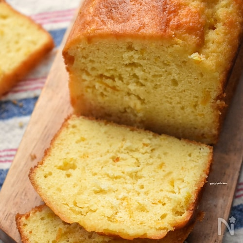 クリチ+バターdeお店レベル♡柑橘系クリチパウンドケーキ