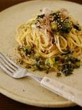 【大根が主役!!】豚バラ肉と大根づくしの和風スパゲティ