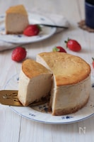 フレッシュないちごのベイクドチーズケーキ(米粉)