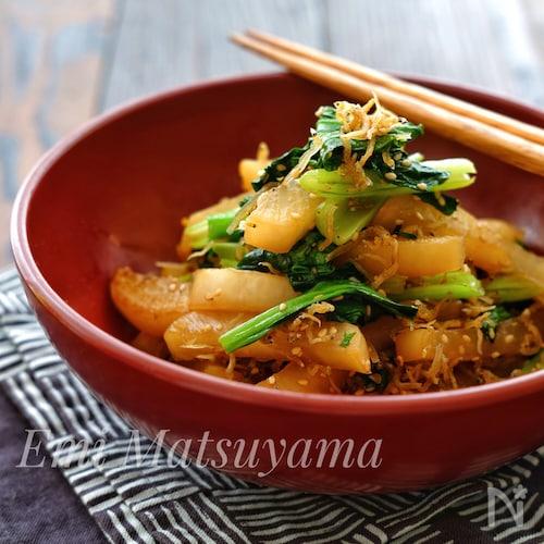 カルシウム補給に!*大根と小松菜のじゃこ炒め*常備菜