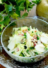 『梨と白菜の簡単シャキシャキサラダ』