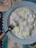 とろっとろ白菜と鶏肉のミルク煮