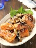 簡単コク旨♪鮭となすの照りマヨ焼き
