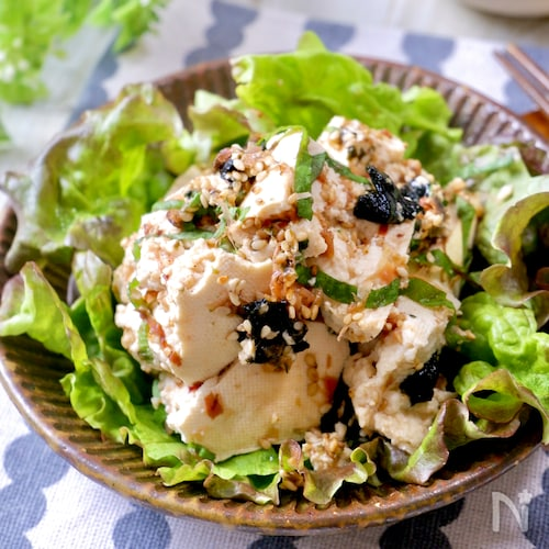 簡単なのに美味しすぎ♡『和風お豆腐サラダ』