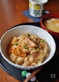 『タケノコと豚バラの混ぜご飯』