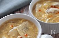 ほのかな酸味♡たけのことふわふわ卵のさっぱりとろみ中華スープ
