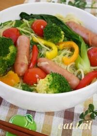 『手間いらず♪お鍋ひとつで作る 『スープサラダ・パスタ』』