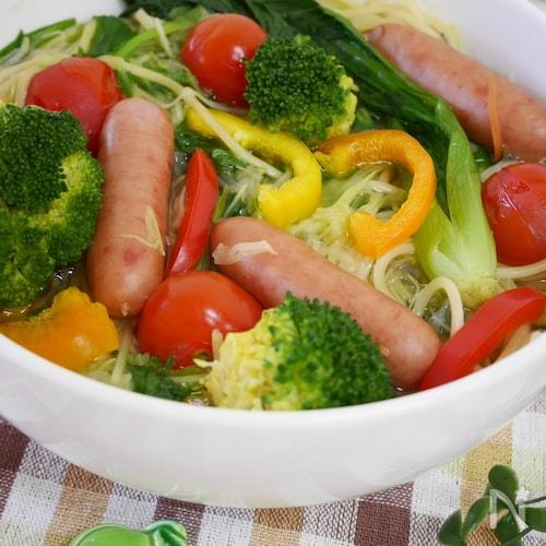 手間いらず♪お鍋ひとつで作る 『スープサラダ・パスタ』