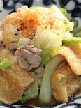 キャベツ、豚肉、油揚げの炒め煮