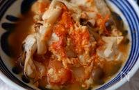 小鍋で10分!ヘルシー&大満足♪キムチと豆腐の卵とじ