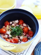 タコとトマトの炊き込みご飯