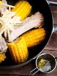スペアリブととうもろこしの塩麹鍋