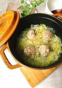 『白菜とまん丸肉だんごの中華スープ』