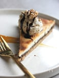 ヴィーガンチョコキャラメルチーズケーキ。