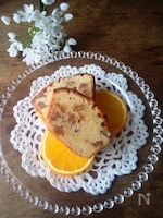 チーズ風味くるみのパウンドケーキ(ベーキングパウダー不使用)