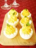<クリスマスにぴったり!>ゆで卵のファルシ