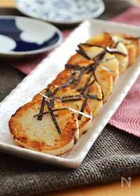 『長芋のバター醤油焼き。フライパンで焼くだけ簡単!おつまみに♪』