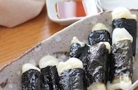 食感よし👍子供も喜ぶおつまみ♡長芋とお餅の磯辺焼き