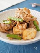 【かさましおかず】豚肉と厚揚げの甘辛チャップ炒め