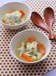 スープ仕立ての水餃子
