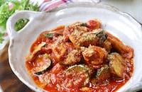 レンジで簡単!ほんのりカレー風味♪鶏肉とズッキーニのトマト煮