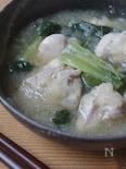 鶏肉と小松菜のみぞれ煮