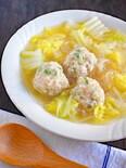 白菜と春雨の鶏だんごスープ