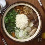 いろいろきのこと大和芋のほっこり鍋