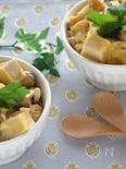 こうや豆腐と油揚げの卵とじ丼