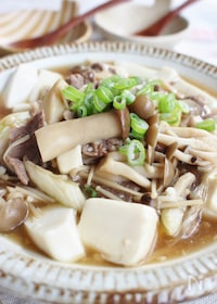 『豆腐のキノコあんかけ』