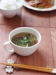 かにかまと豆苗の中華スープ