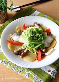 『レンジで5分*鱈と白菜のバター醤油蒸し』