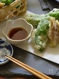 ミョウガとねごろ大唐の天ぷら