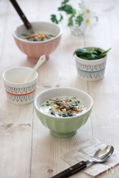 カラフルクリームスープ
