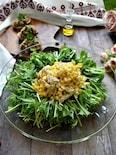 水菜がわさわさ食べれる!トウモロコシとささみのサラダ