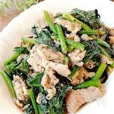スピード調理★豚肉とほうれん草のにんにく風味・ごま油炒め
