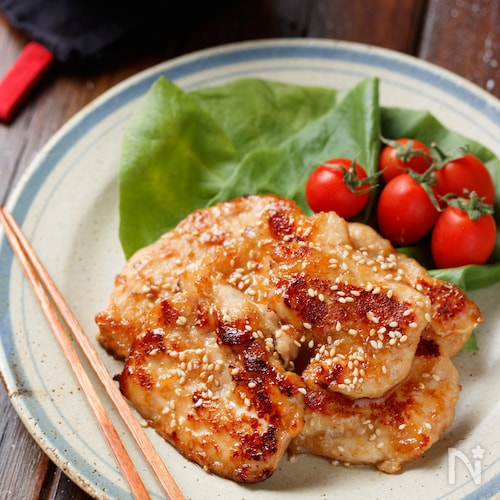 むね肉de焼肉チキン【#作り置き#下味冷凍#お弁当#ポリ袋】