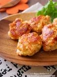 ほろほろ崩れる柔らかさ*ぶつ切り鶏むね肉のマヨチーズ丸め焼き