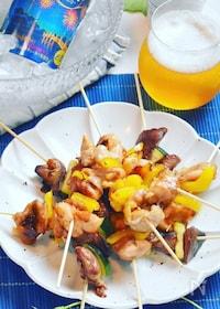 『オーブンしっとり焼き鳥♪麺つゆで簡単ー☆』