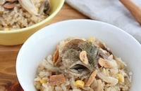 炊飯器で簡単♪舞茸とツナマヨコーンの炊き込みピラフ