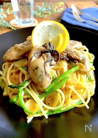 『自分にご褒美パスタ♡旨味溢れる牡蠣のクリームスパゲティ』