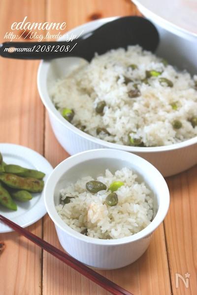 丹波黒豆の枝豆の炊き込みご飯