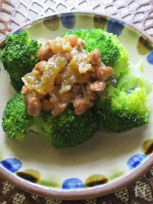 ダイエットに栄養補給に!金山寺味噌納豆ちょいのせブロッコリー